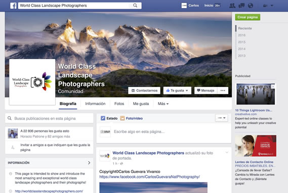 Portada World Class Landscapes Photographers